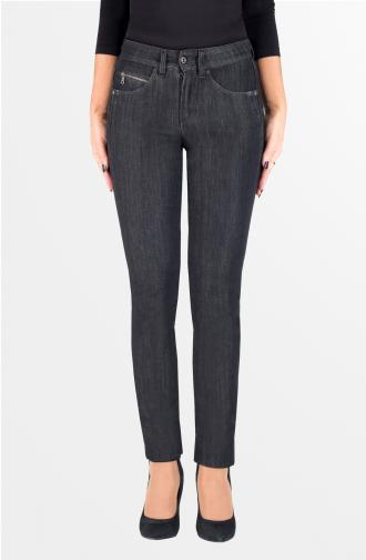 TROUSERS ADELE - black washed