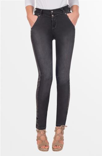 TROUSERS ALICE - black washed