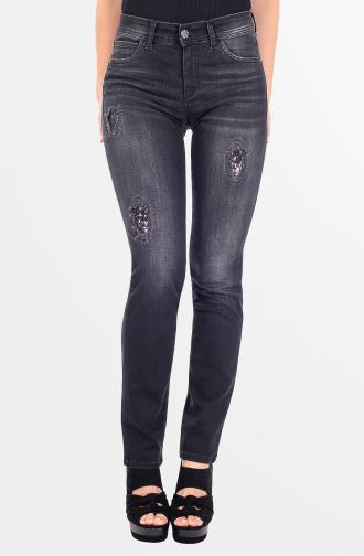 TROUSERS DAISY - black washed