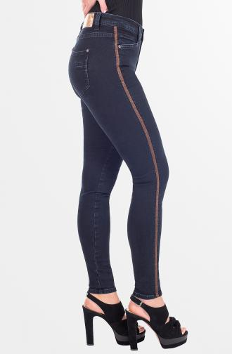 TROUSERS DEMI - dark blue