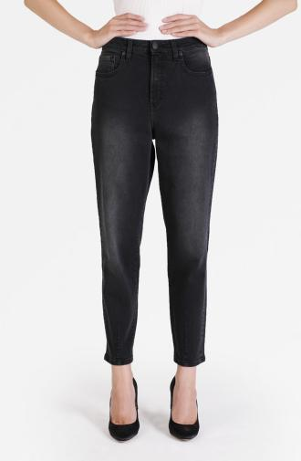 TROUSERS LINDA - black washed