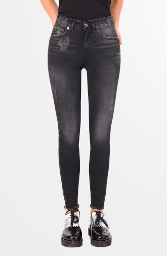 TROUSERS PAMELA - black washed
