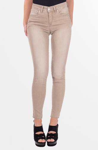 PAMELA TROUSERS - dark beige