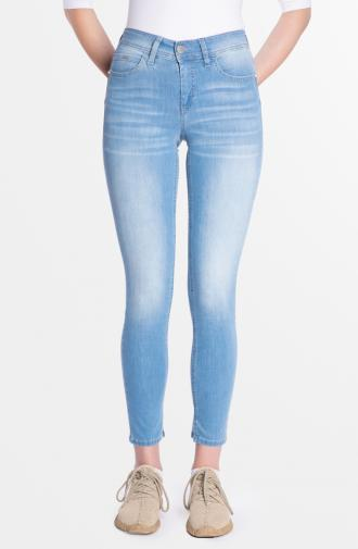 PAMELA TROUSERS - light blue washed