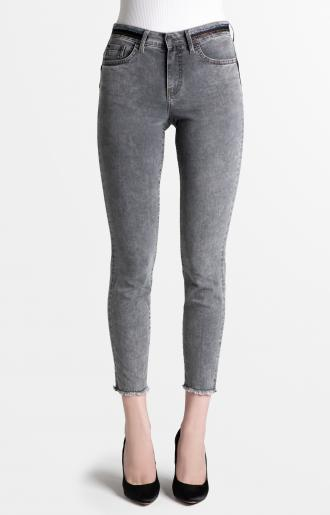 TROUSERS PAMELA - light grey skybleach