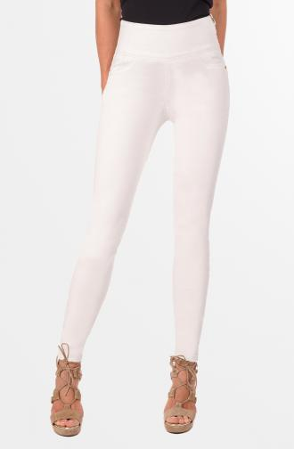 REBECA TROUSERS - ivory