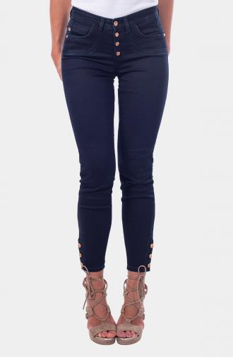 TROUSERS SABRINA - dark blue