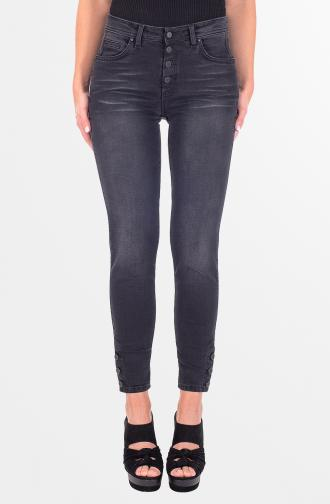 TROUSERS SABRINA - black washed