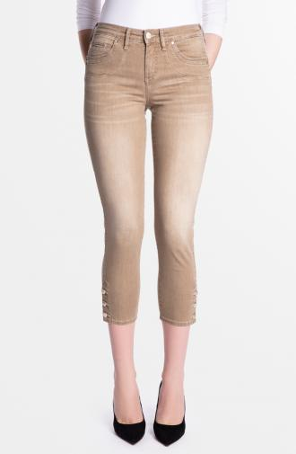 SABRINA TROUSERS - dark beige