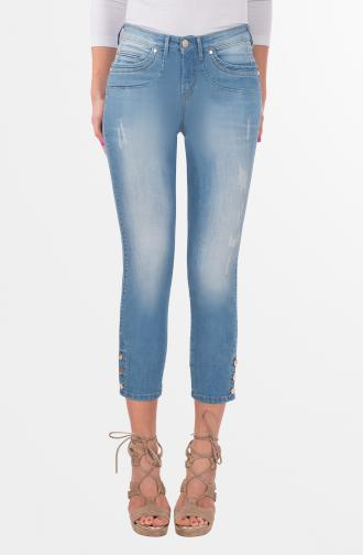 SABRINA TROUSERS - light blue washed