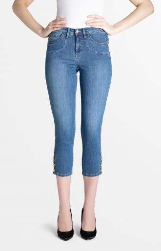 TROUSERS SABRINA - light blue washed