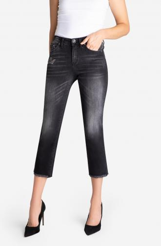 TROUSERS TATIANA - black washed