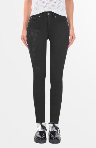 TROUSERS TATIANA - black