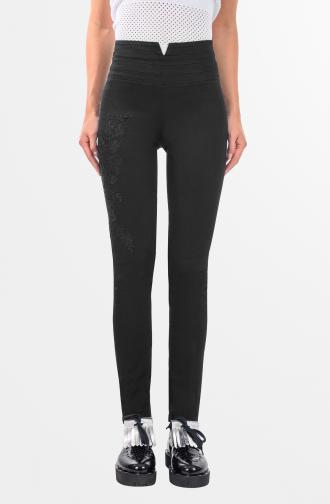 TROUSERS TIFFANY - black