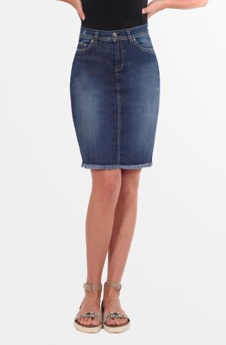 SKIRT TOLA - dark blue washed